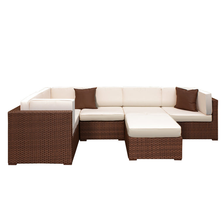 Bellagio 6 Piece Wicker Patio Sectional Set , International Home Miami- grayburd