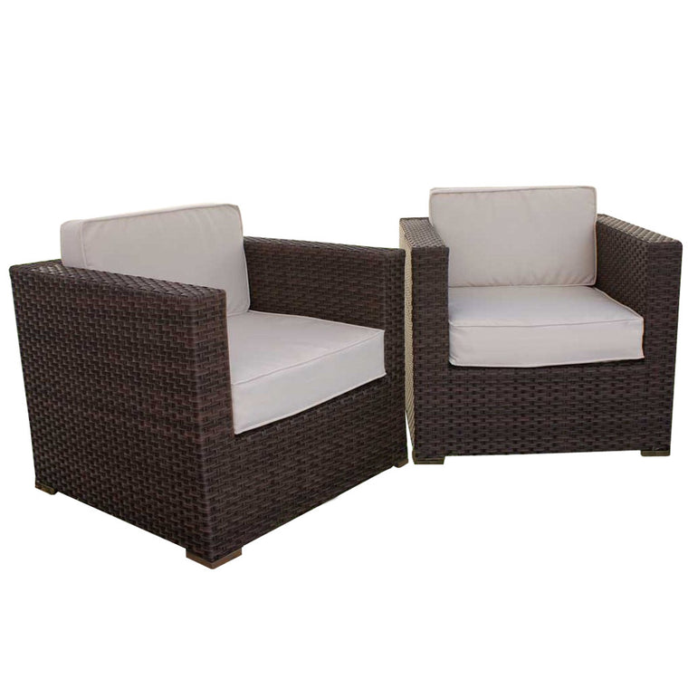 Bellagio 2 Piece Wicker Patio Armchair Set , International Home Miami- grayburd