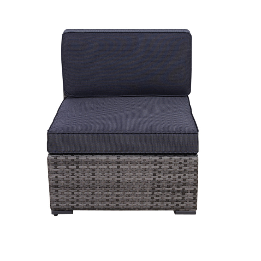 Southampton 9 pc Grey Wicker Seating Set with Grey Cushions , International Home Miami- grayburd