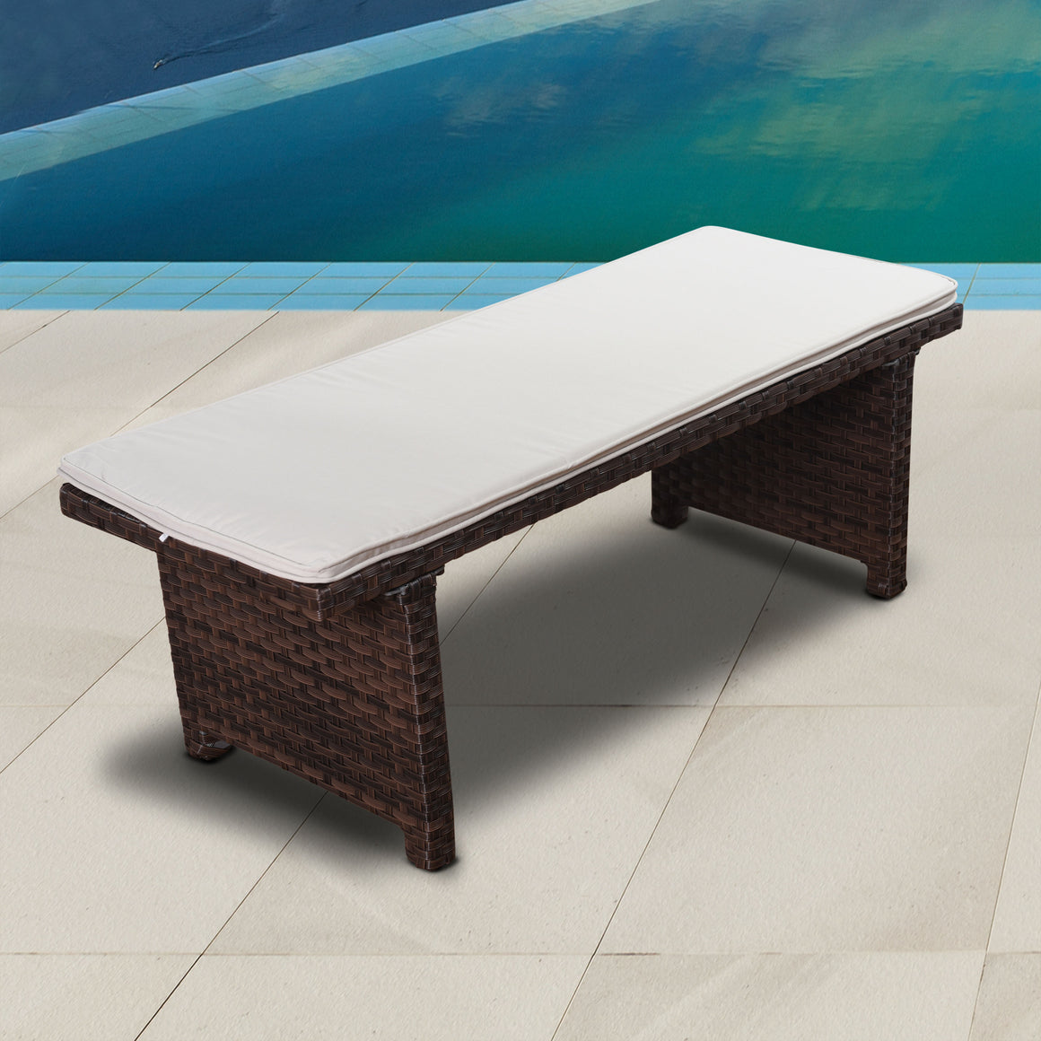 Atlantic Bellagio Patio 2-Seater Bench , International Home Miami- grayburd