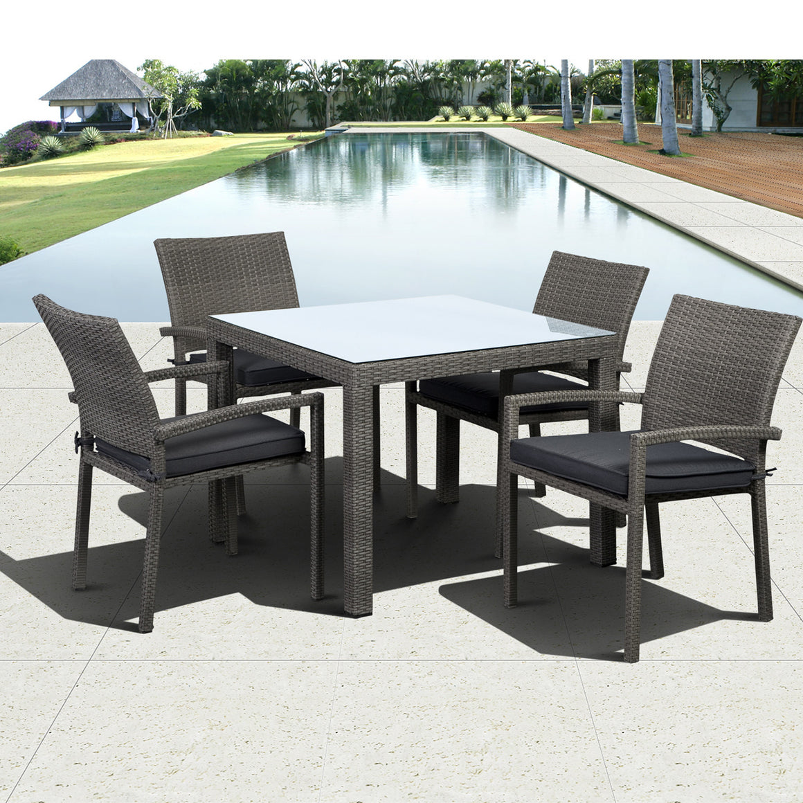 Liberty Square 5 piece Armchair Dining Set , International Home Miami- grayburd