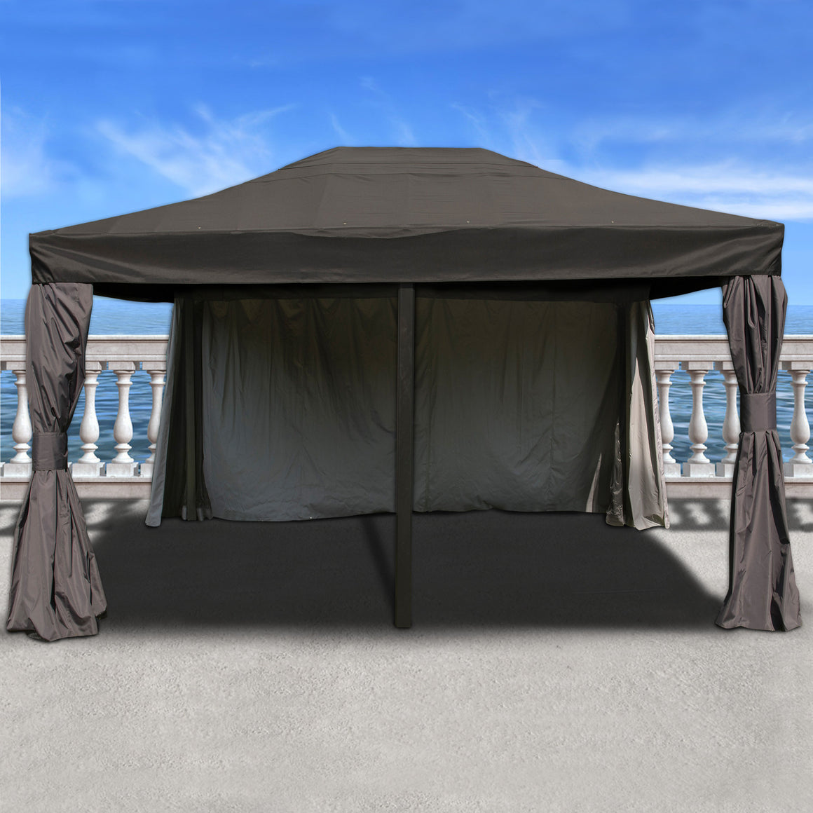 Atlantic Patio Rectangular 12FT x 16FT Aluminum Gazebo , International Home Miami- grayburd