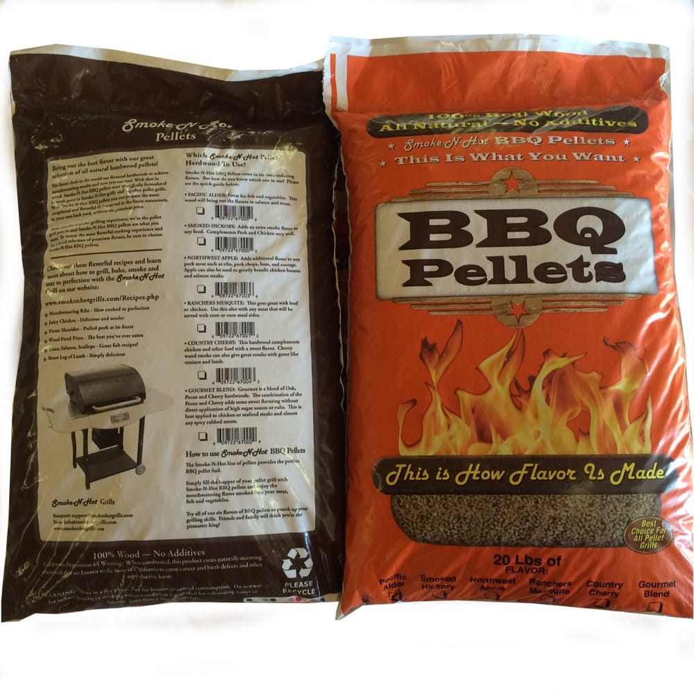 Smoke N Hot Grill BBQ Pellets Smoked Hickory - grayburd