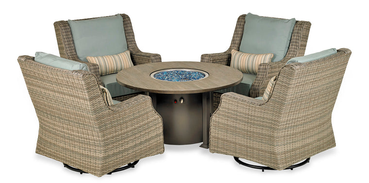 Rome Platinum 5-Piece Fire Chat Set
