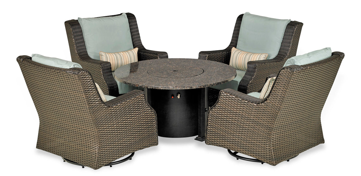 Rome 5-Piece Fire Chat Set (Canvas Spa)