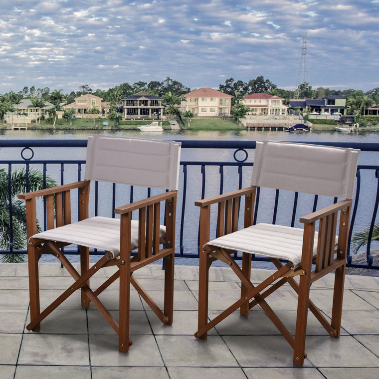 Amazonia 2 Piece Director Panama Patio Chair Set , International Home Miami- grayburd