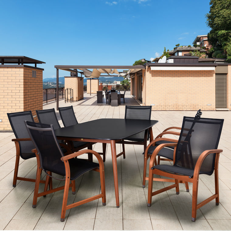 Amazonia Carolina 9 Piece Rectangular Patio Dining Set , International Home Miami- grayburd