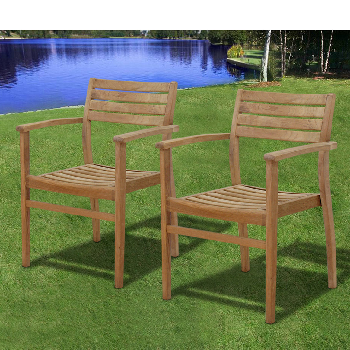 Boyd 9 Piece Teak Rectangular Patio Dining Set , International Home Miami- grayburd