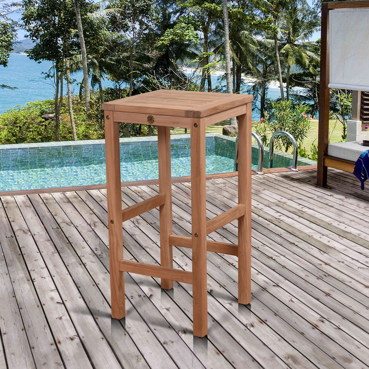 Amazonia Teak Coventry Patio Backless Bench , International Home Miami- grayburd
