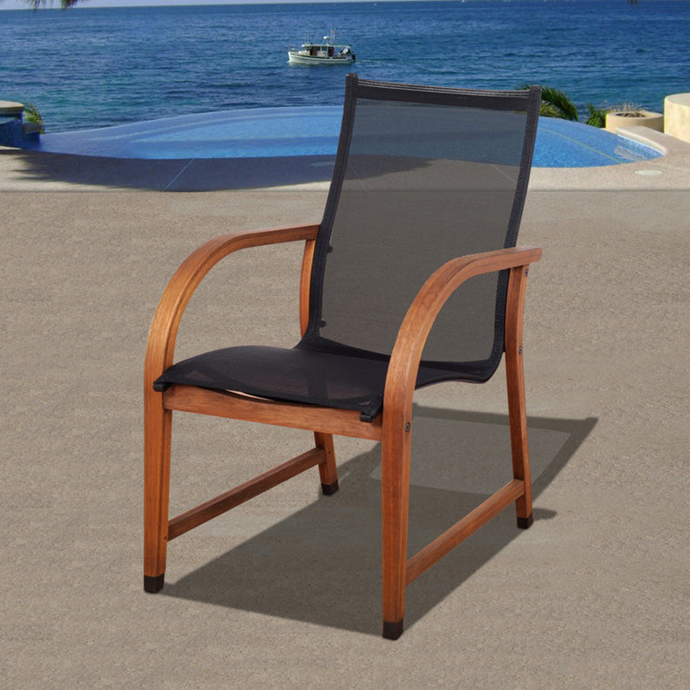Bahamas 4 Piece Eucalyptus Patio Armchair Set , International Home Miami- grayburd