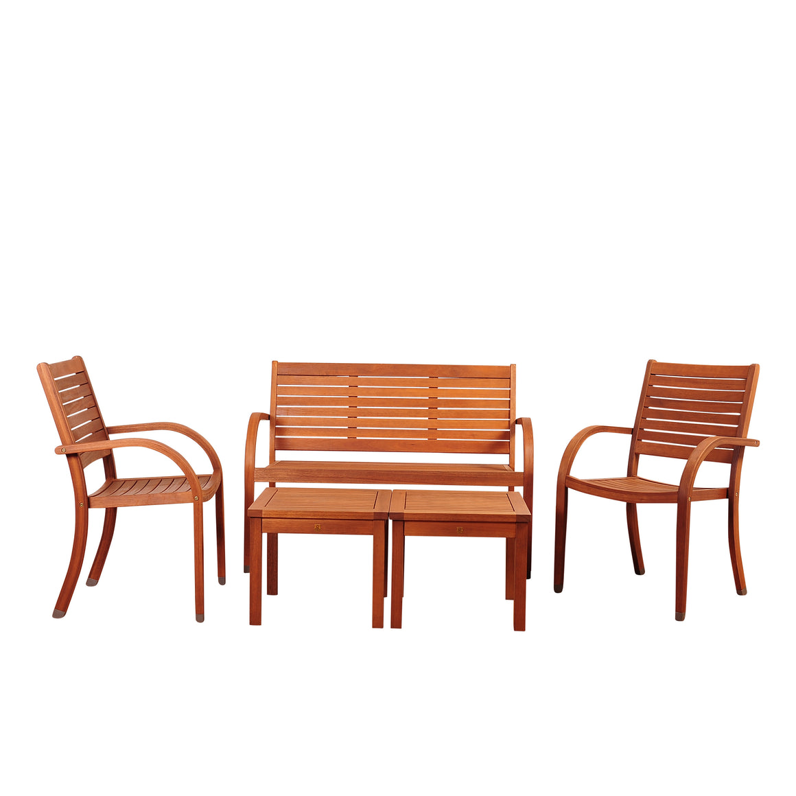 Amazonia Arizona 5 Piece Eucalyptus Seating Set , International Home Miami- grayburd