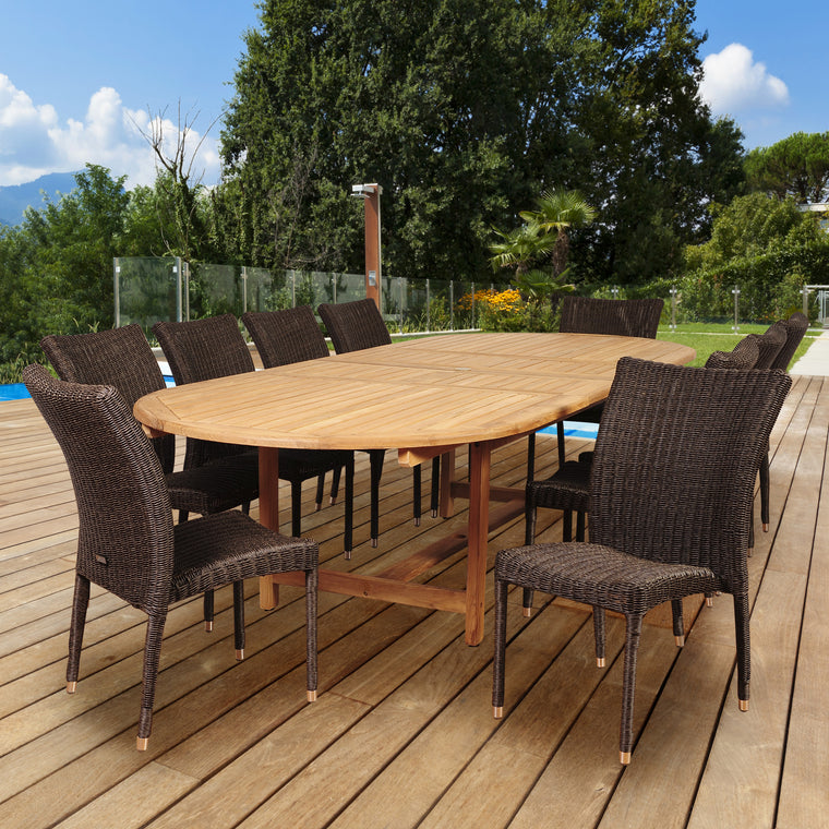 Amazonia District 11 Piece Teak/Wicker Double , International Home Miami- grayburd