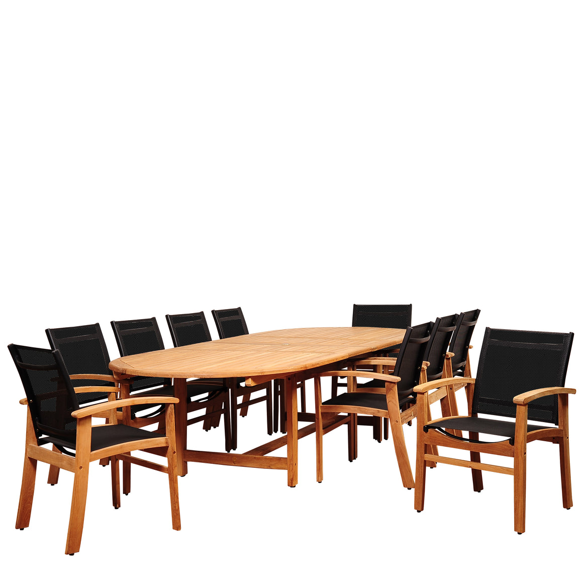 Amazonia Edenton 11 Piece Teak Double , International Home Miami- grayburd