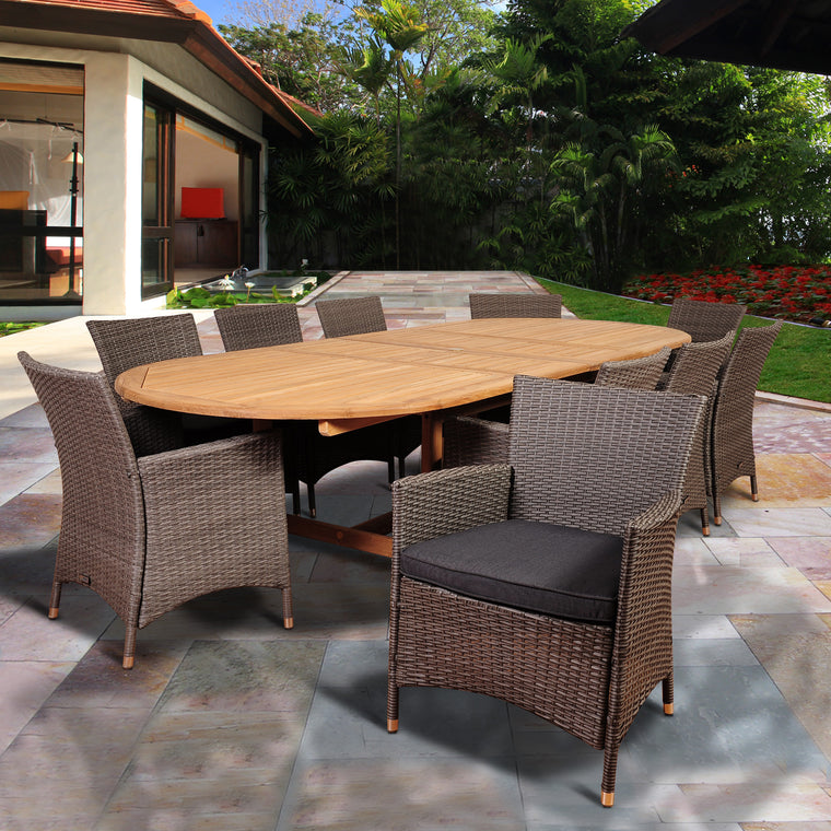 Amazonia Harrison Park 11 Piece Dining Set , International Home Miami- grayburd