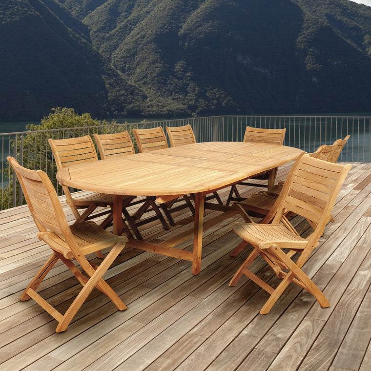 Amazonia Savona 11 Piece Teak Double , International Home Miami- grayburd