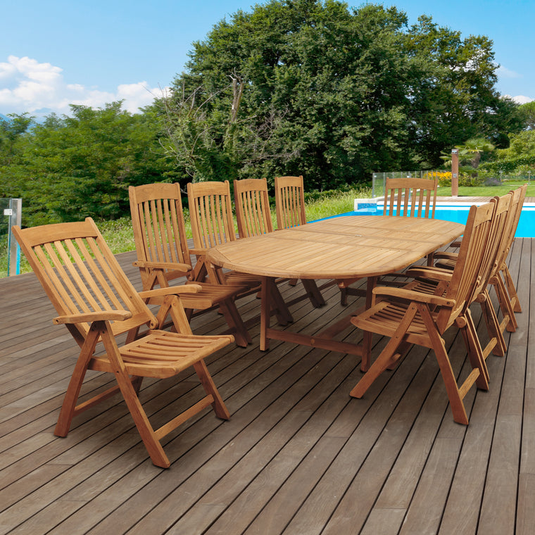 Amazonia Griffin 11 Piece Teak Double , International Home Miami- grayburd