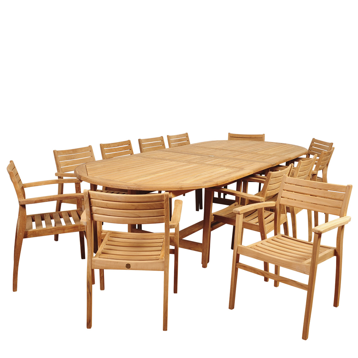 Amazonia Mondavi 13 Piece Teak Double , International Home Miami- grayburd
