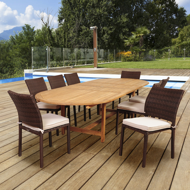 Amazonia Noah 9 Piece Dining Set , International Home Miami- grayburd