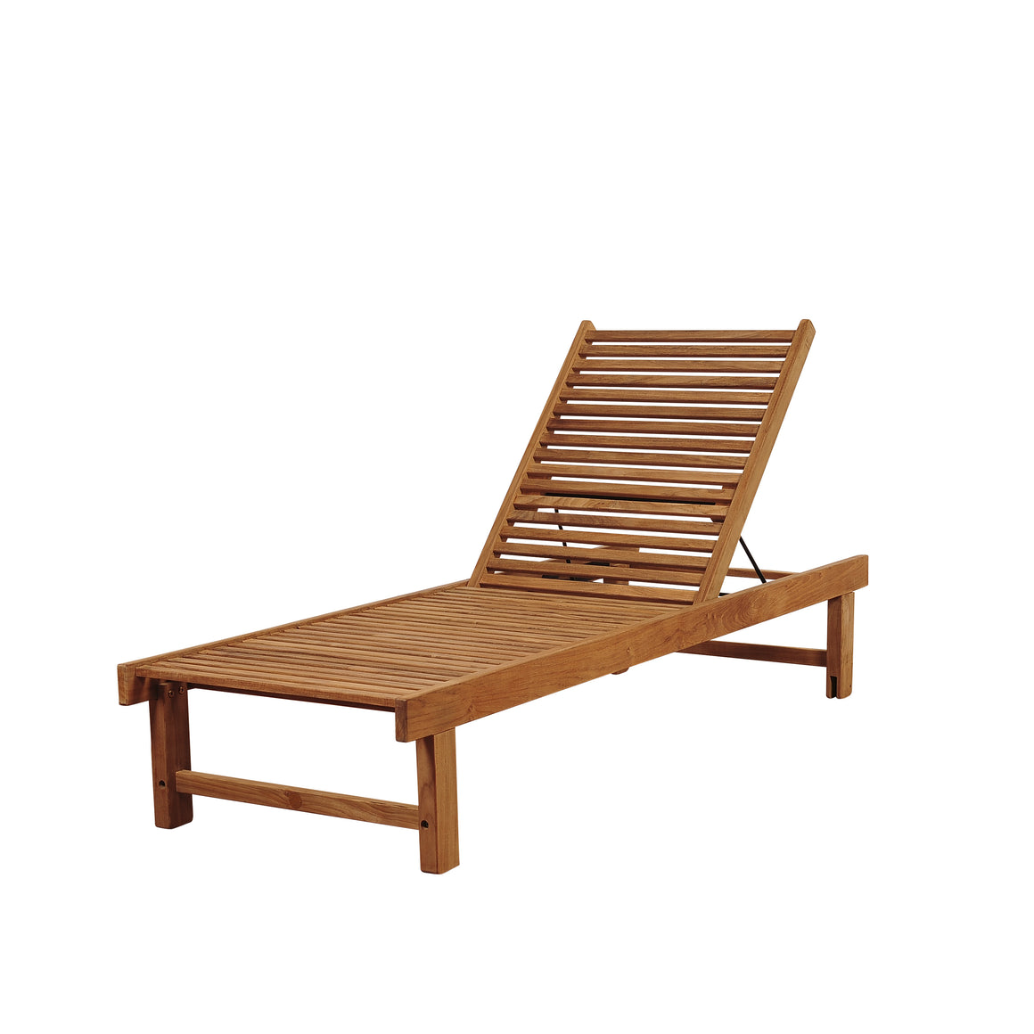 Amazonia Nias Teak Lounger , International Home Miami- grayburd