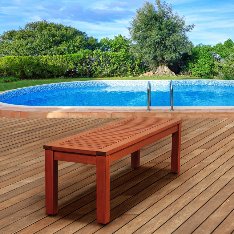 "Amazonia Richfield 53"" Eucalyptus Backless Bench , International Home Miami- grayburd"