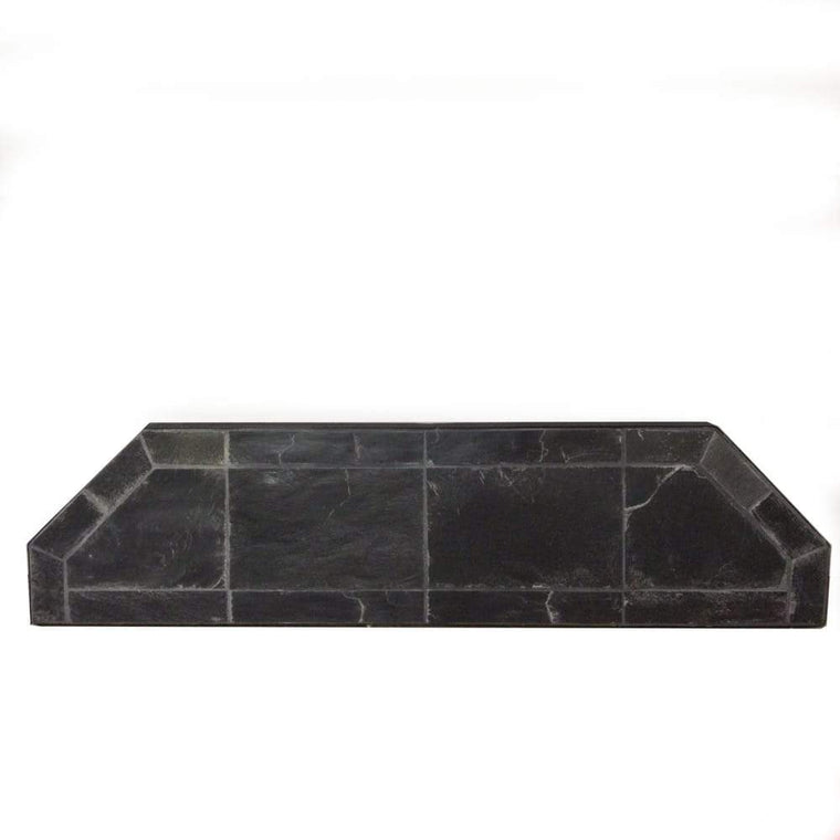 12 48 Black Slate Hearth Extension - grayburd