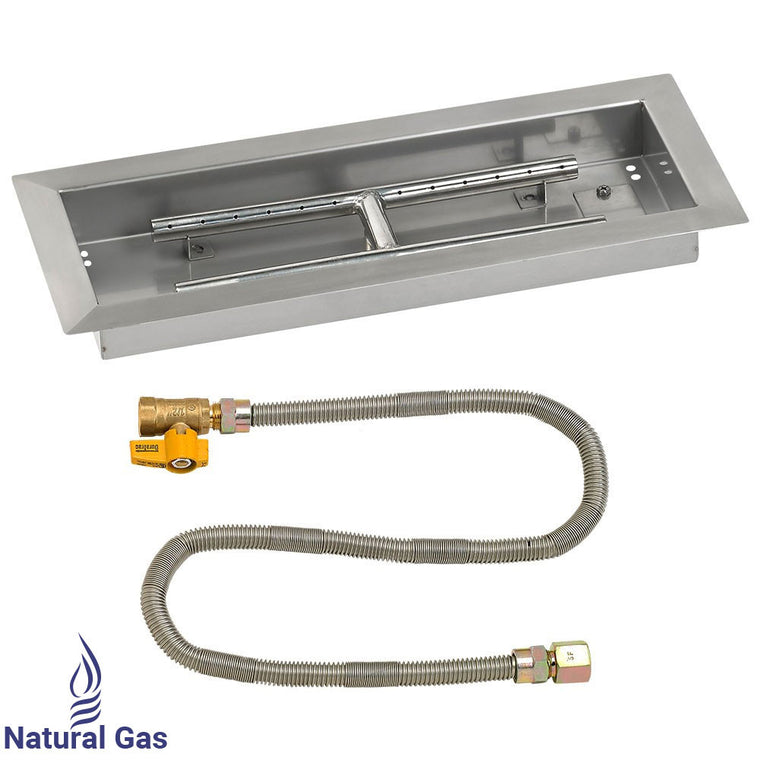 American Fire Glass - Drop In Rectangular Pan (Match Light DIY Fire Kits) , American Fire Glass- grayburd