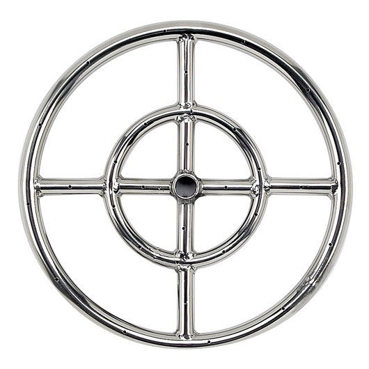 American Fire Glass - Ring Burner Inlet Stainless Steel Fire Pit , American Fire Glass- grayburd