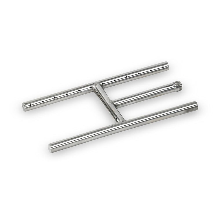 American Fire Glass - High Quality H-Style Stainless Steel Burner - Natural Gas , American Fire Glass- grayburd