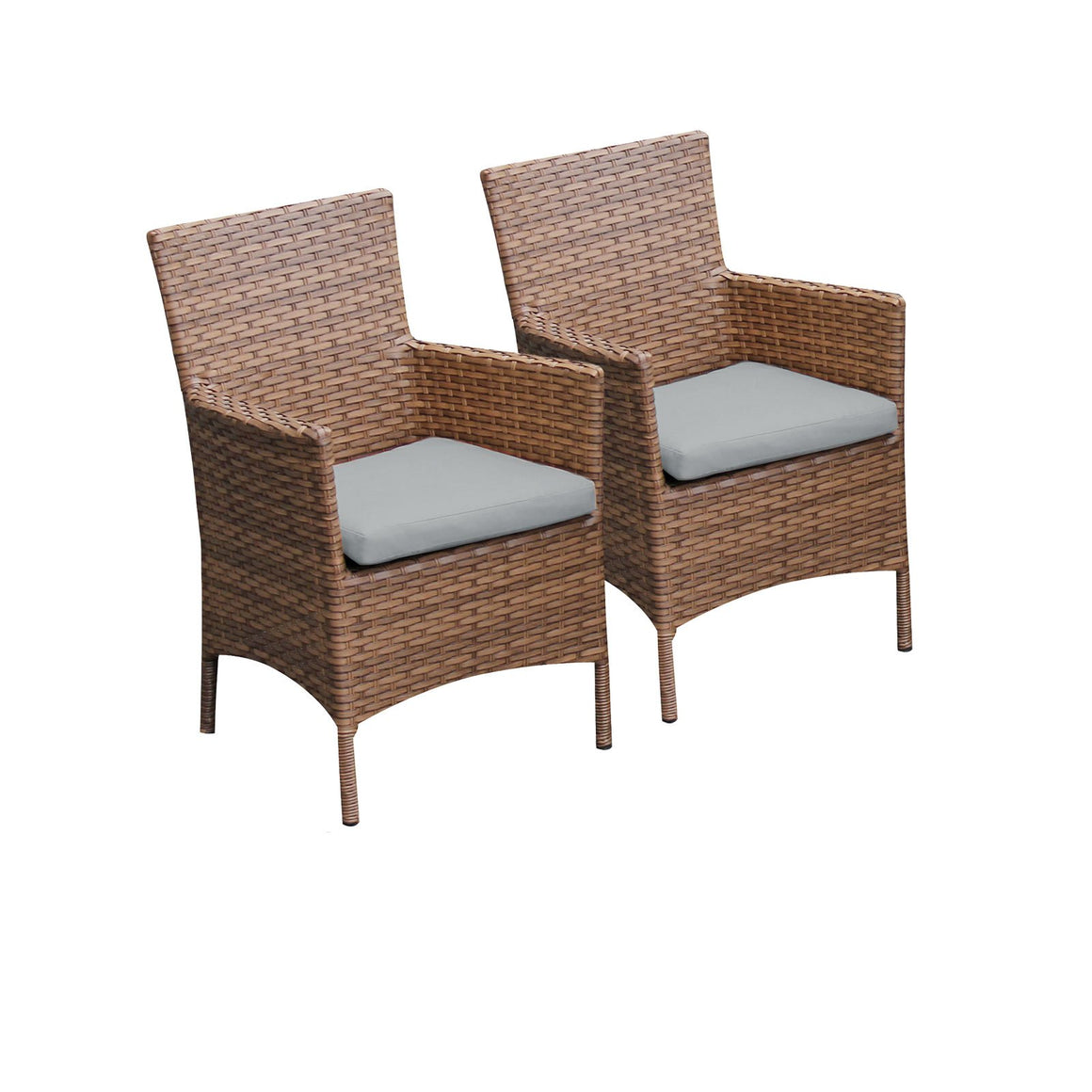 2 Laguna Dining Chairs With Arms , TK Classics- grayburd