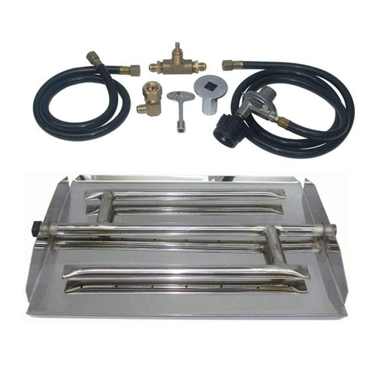 17 inch Stainless Steel Triple Xtra Flame Burner Kit LP - grayburd
