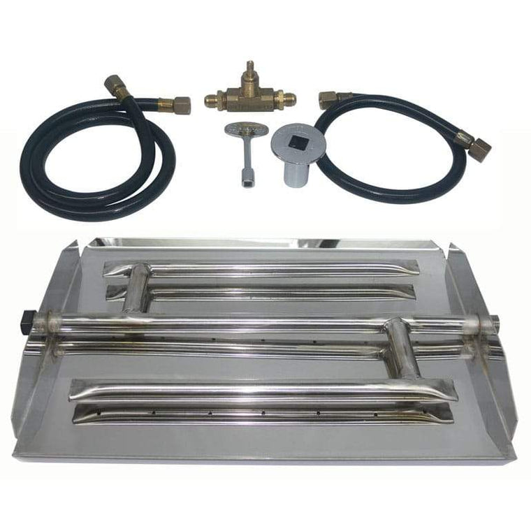 17 inch Stainless Steel Triple Xtra Flame Burner Kit NG - grayburd