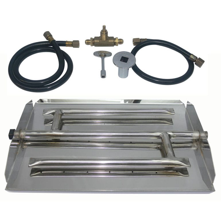 35 inch Stainless Steel Triple Xtra Flame Burner Kit NG - grayburd