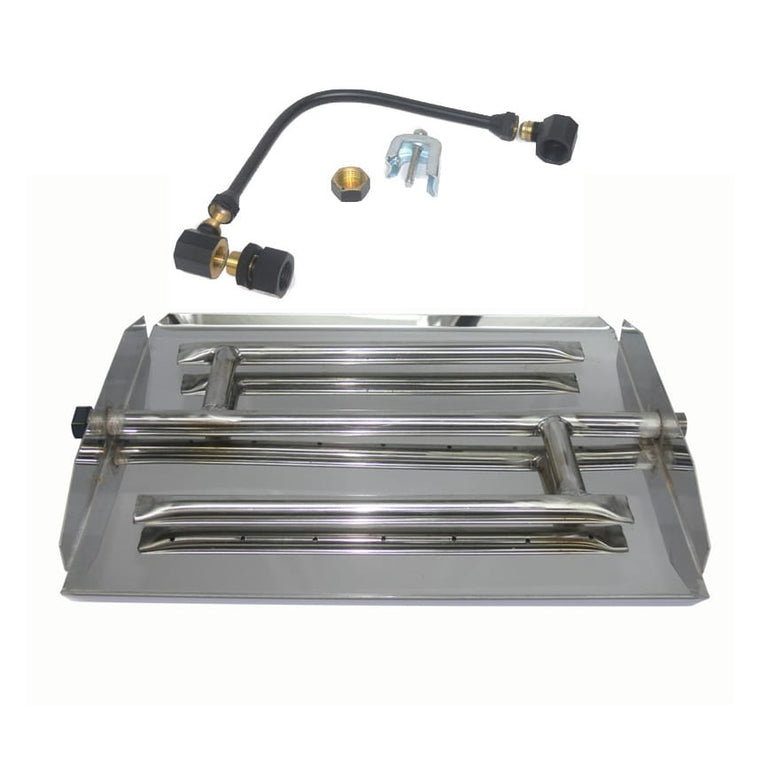 35 inch Stainless Steel Triple Xtra Flame Burner Kit LP - grayburd