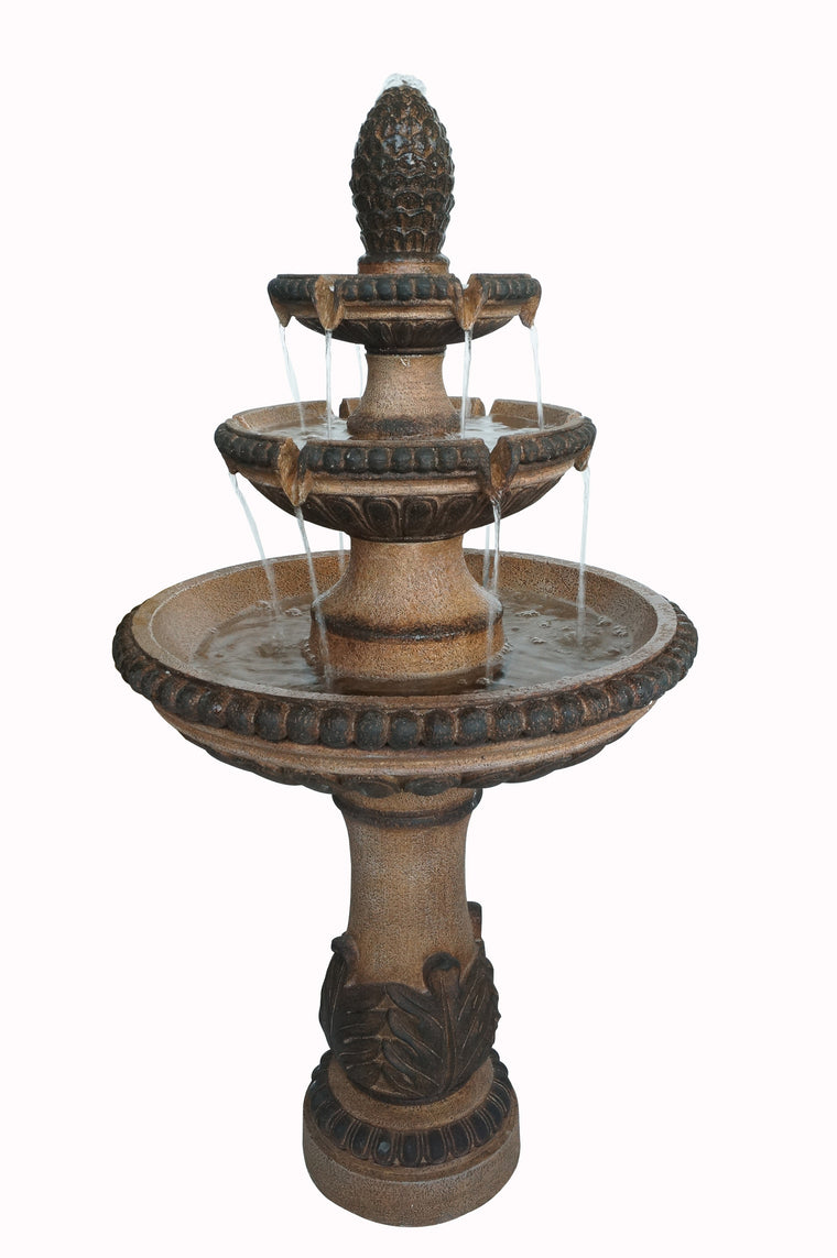 Thornton Four Tier Topped Brown Outdoor Fountain , Bond- grayburd