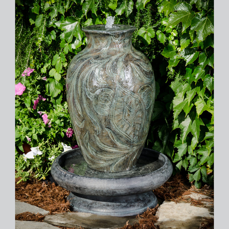 Brielle Bronze Resin Vase Outdoor Water Fountain , Bond- grayburd