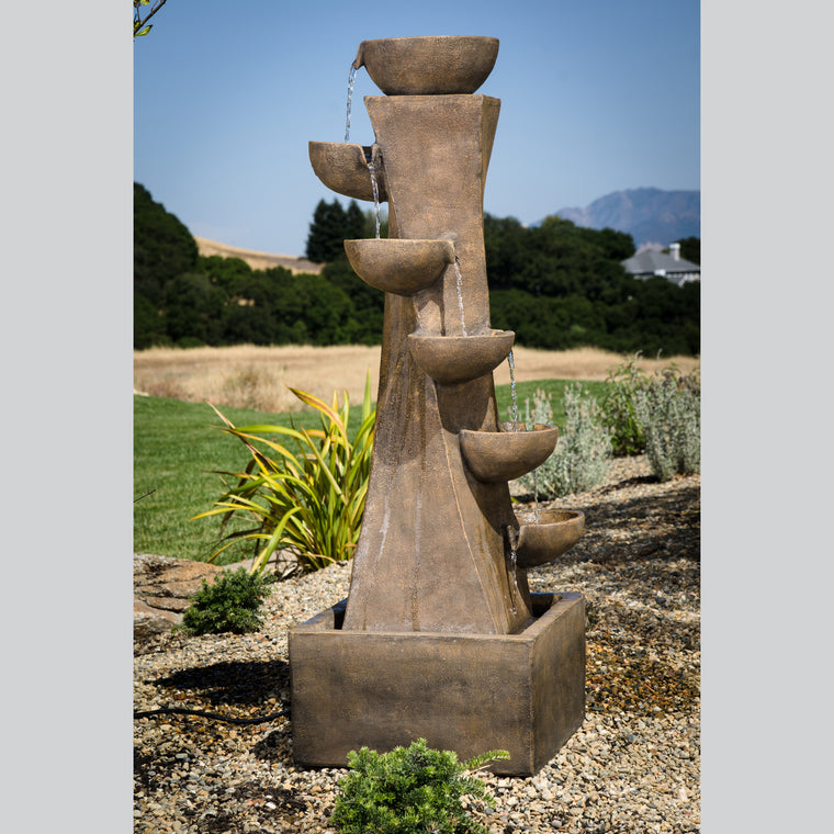 Portofino Envirostone Water Fountain , Bond- grayburd