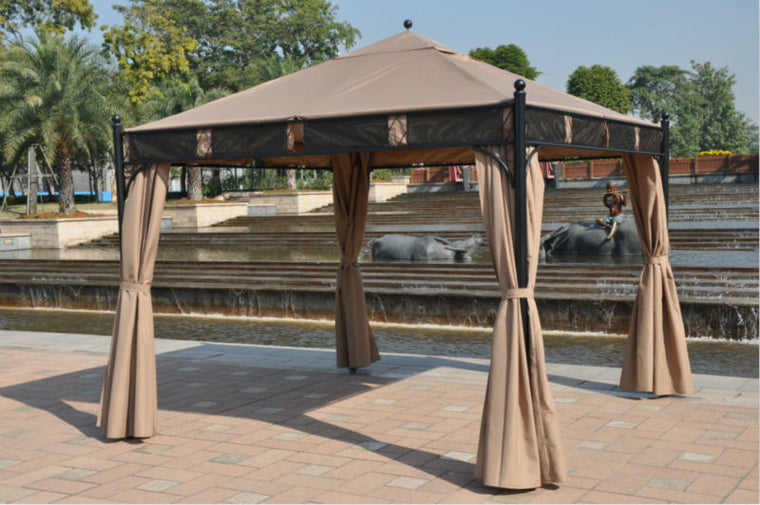 13 x 13 Pop-Up Gazebo Patio Outdoor Canopy Tent , The Wicker House- grayburd