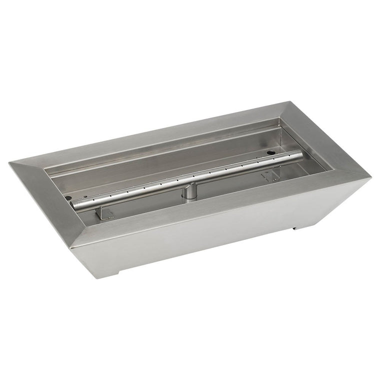 American Fire Glass - Fireplace Stainless Steel Pan Burner (Paramount Style) , American Fire Glass- grayburd