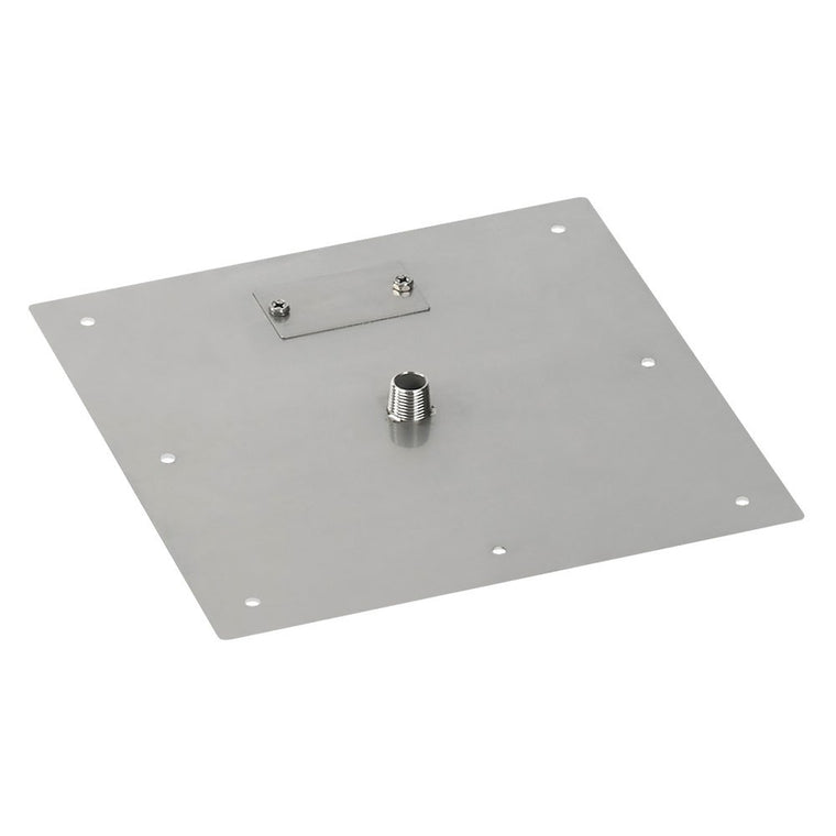 "American Fire Glass - Drop-In Fire Stainless Steel Square Pit Pan (1/2"" Nipple) , American Fire Glass- grayburd"