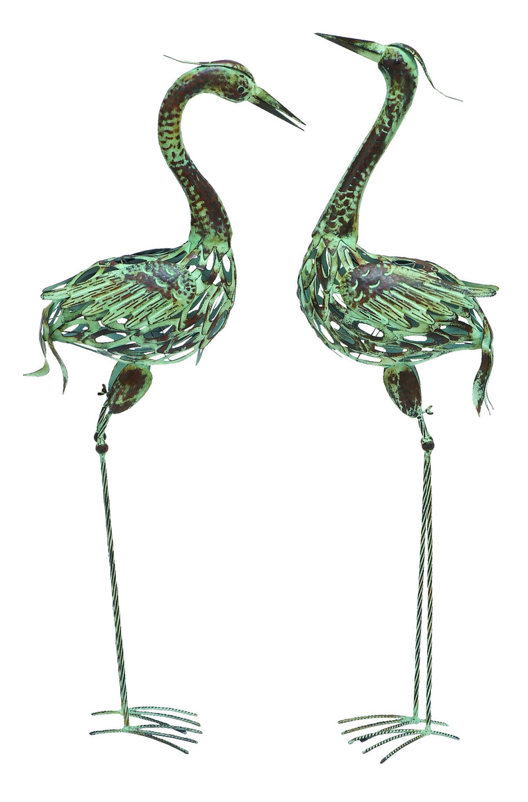 Metal Bird with Attractive and Elegant Artistic Style - Set of 2: Metal bird with attractive and elegant artistic style - set of 2 , Benzara Inc- grayburd