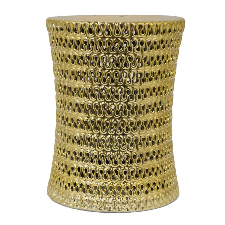 Benzara Amazing Ceramic Outdoor Stool , Benzara Inc- grayburd