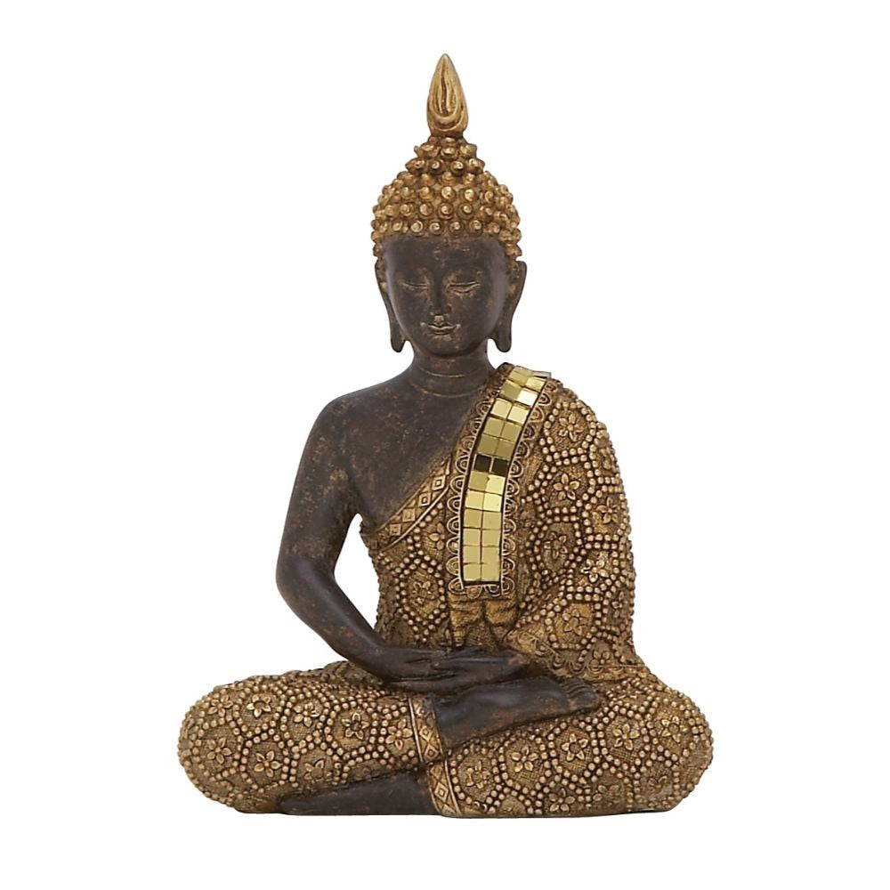 Charismatic PS Sitting Buddha , Benzara Inc- grayburd