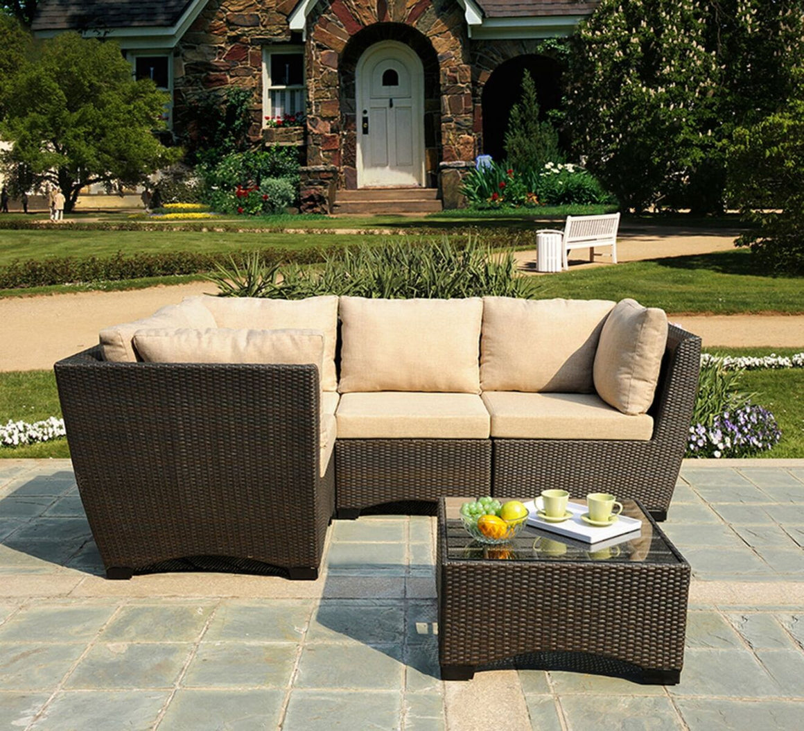 W Unlimited Infinity Collection Outdoor Garden Patio Furniture 5PC set w/ Table , W Unlimited- grayburd
