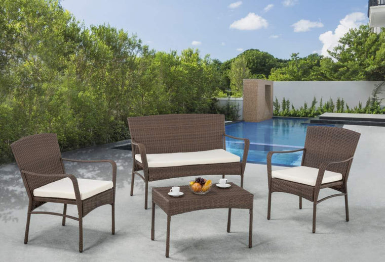 W Unlimited Arcadia Collection Outdoor Garden Patio Furniture 4PC set , W Unlimited- grayburd