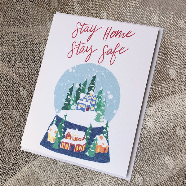Stay Home Stay Safe Covid Christmas Holiday Card