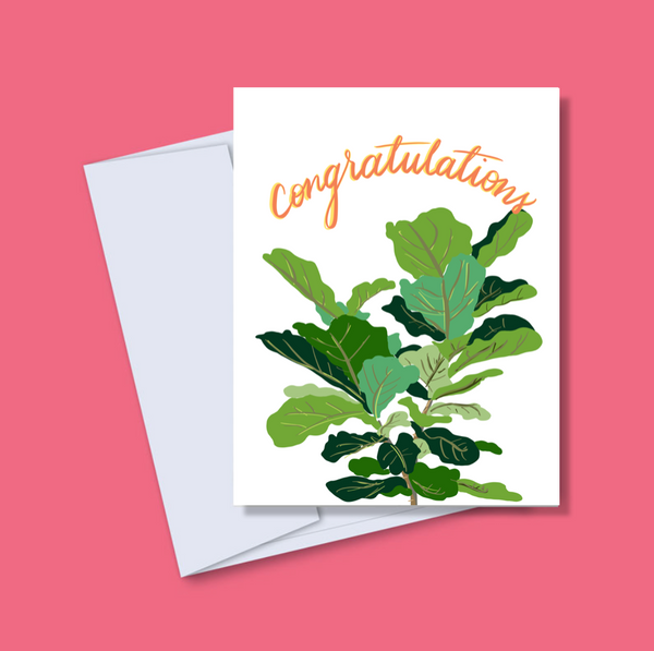 Congratulations Fig Card