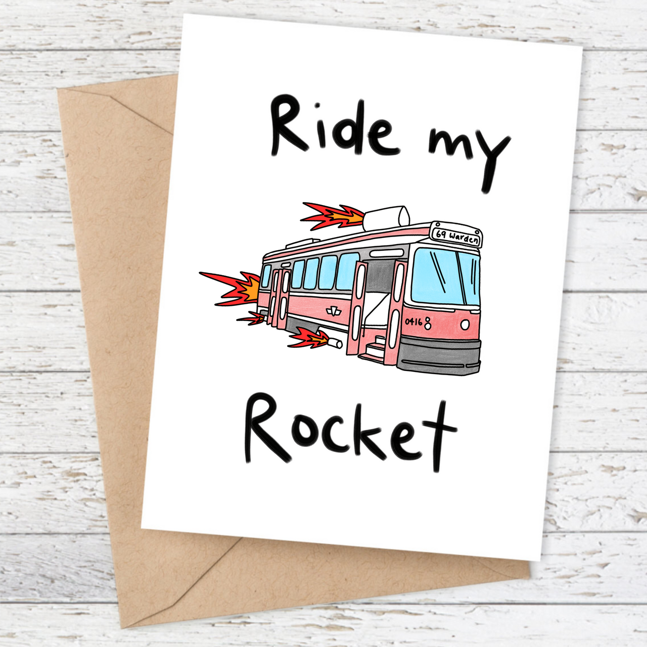 Ride my Rocket TTC Card