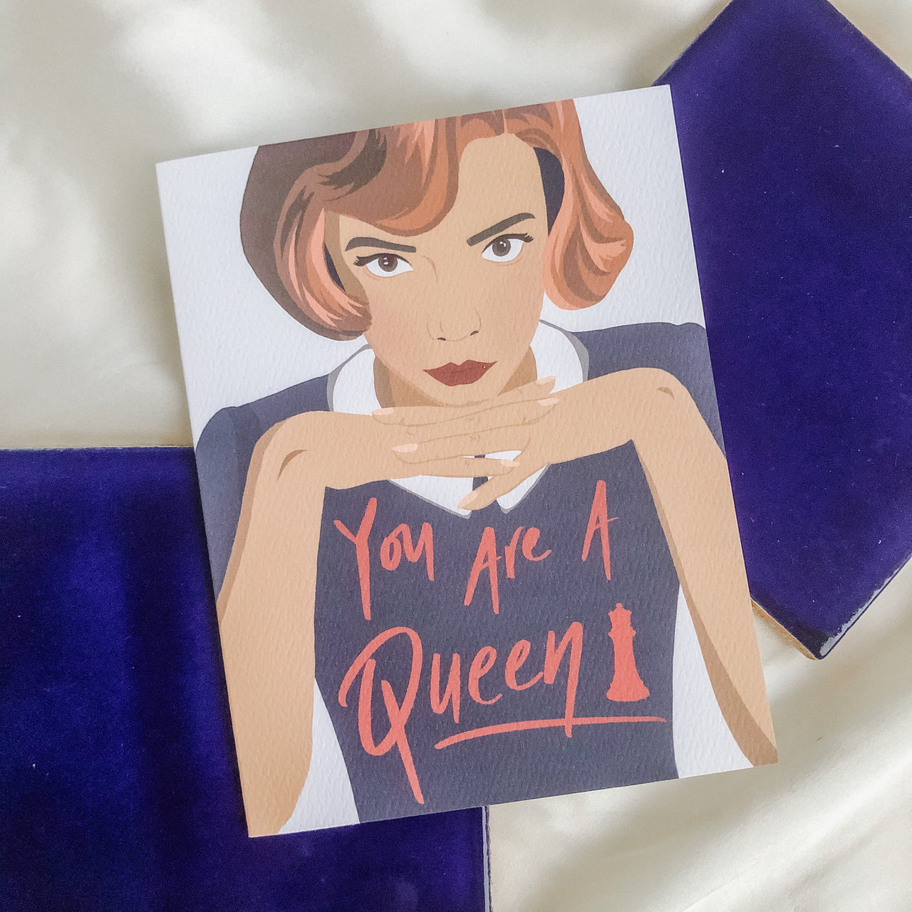 Queens Gambit You are a Queen Greeting Card