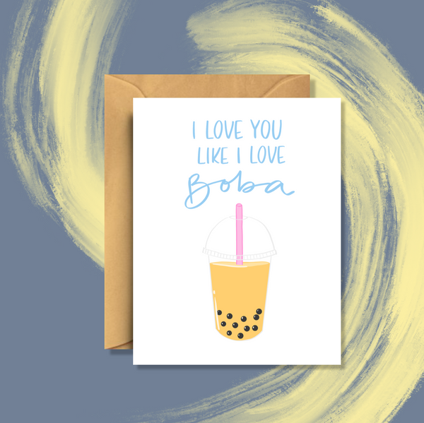 Bubble Tea Boba Card
