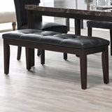 Backless Bench Dining Kitchen Faux leather new armless